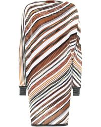 Missoni Vestido midi de rayas - Multicolor