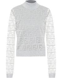 Fendi Pullover aus Metallic-Garn - Mettallic