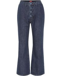 STAUD Helena High-rise Flared Jeans - Blue