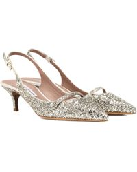 Tabitha Simmons - Exclusive To Mytheresa. Com – Layton Glitter Slingback Pumps - Lyst