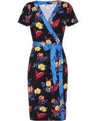 Diane von Furstenberg - Silk Printed Wrap Dress - Lyst