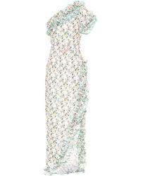 Gül Hürgel Floral Linen Dress - Green