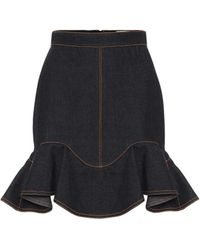 Alexander McQueen - Denim Miniskirt - Lyst