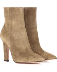 Gianvito Rossi - Daryl Suede Ankle Boots - Lyst