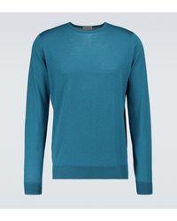 John Smedley Marcus Crewneck Wool Jumper - Blue