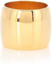 Sophie Buhai Wide Cigar 18kt Gold Vermeil Ring - Metallic