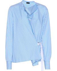 JOSEPH - Striped Cotton Shirt - Lyst