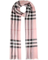 Burberry - Giant Check Wool And Silk Scarf - Lyst