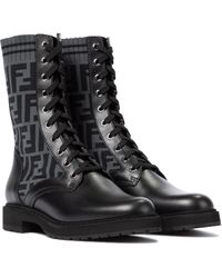 Fendi Ankle Boots Rockoko FF - Schwarz