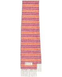 Marni Striped Alpaca And Mohair-blend Scarf - Multicolour
