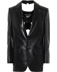 Junya Watanabe Faux Leather Blazer - Black