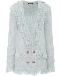 Balmain - Fringed Double-breasted Cardigan - Lyst