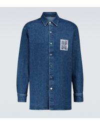 Raf Simons Slim-fit Denim Shirt - Blue