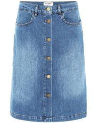 FRAME Falda de jeans Vintage Boot - Azul