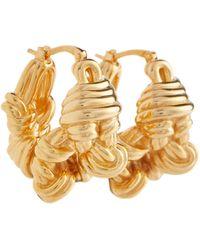 Bottega Veneta Vergoldete Ohrringe aus Silber - Mettallic