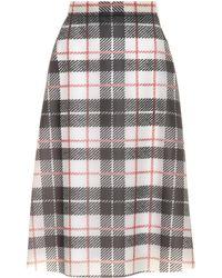Burberry Falda de plástico estampado tartán - Negro