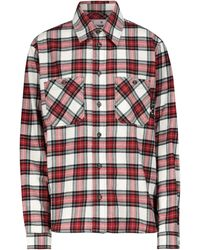 Off-White c/o Virgil Abloh Checked Cotton Flannel Shirt - Red