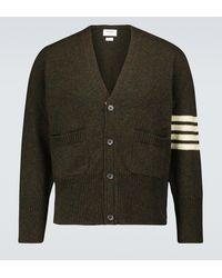 Thom Browne Cárdigan de lana en punto de jersey - Verde