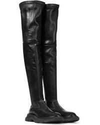 Alexander McQueen Tread Leather Over-the-knee Boots - Black