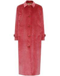 Giuliva Heritage Collection Manteau Maria en velours côtelé - Rose