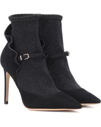 Sophia Webster Lucia Suede Ankle Boots - Black
