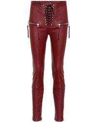Unravel - Lace-up Leather Pants - Lyst