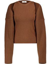 Frankie Shop Pullover aus Strick - Braun