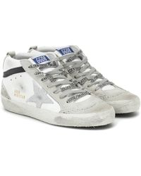 Golden Goose Deluxe Brand Mid Star Leather Sneakers - White