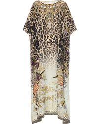 Camilla - Printed Silk Kaftan - Lyst