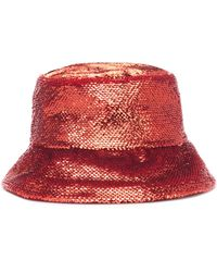 Valentino Garavani Sombrero de pescador con lentejuelas - Metálico