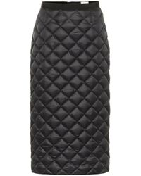 Moncler Quilted Down Pencil Skirt - Black