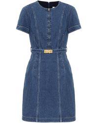 Tory Burch Miniabito di jeans Nadia - Blu