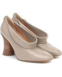 Petar Petrov Sayra Leather Court Shoes - Natural
