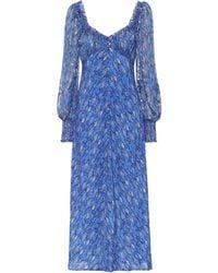 RIXO London Miriam Dress - Blue