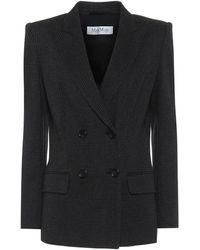 Max Mara Madison Wool-blend Blazer - Black