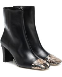 Aeyde Belle Leather Ankle Boots - Black