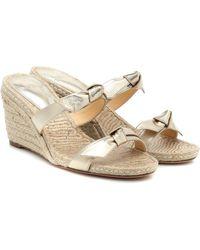 Alexandre Birman Clarita Braided Wedge Sandals - Metallic