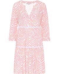 Heidi Klein Cape Town Zebra-print Minidress - Pink