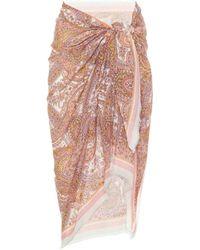 Zimmermann Exclusive To Mytheresa – Paisley Cotton Sarong - Pink