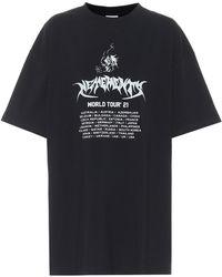 Vetements Printed Cotton Jersey T-shirt - Black