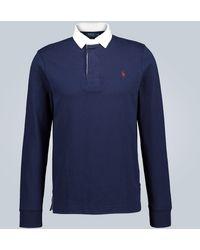 Polo Ralph Lauren Cotton-jersey Rugby Shirt - Blue
