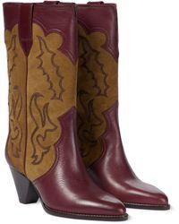 Isabel Marant Ankle Boots Linle aus Leder - Mettallic