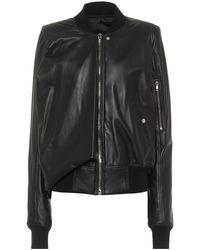 Rick Owens Seb Leather Bomber Jacket - Black