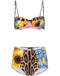Dolce & Gabbana Bedruckter Bikini - Mehrfarbig