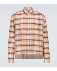 Undercover Chemise en coton à carreaux - Multicolore