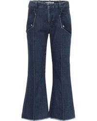 Acne Studios Blå Konst High-rise Flared Jeans - Blue