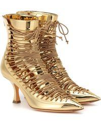 Y. Project Ankle Boots aus Metallic-Leder - Mettallic