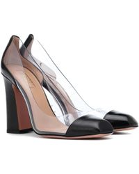 Aquazzura - Optic 105 Leather Trimmed Court Shoes - Lyst