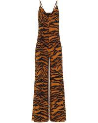 Norma Kamali Exclusivo en Mytheresa – mono con estampado de tigre - Naranja