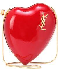 Saint Laurent - Love Box Leather Shoulder Bag - Lyst